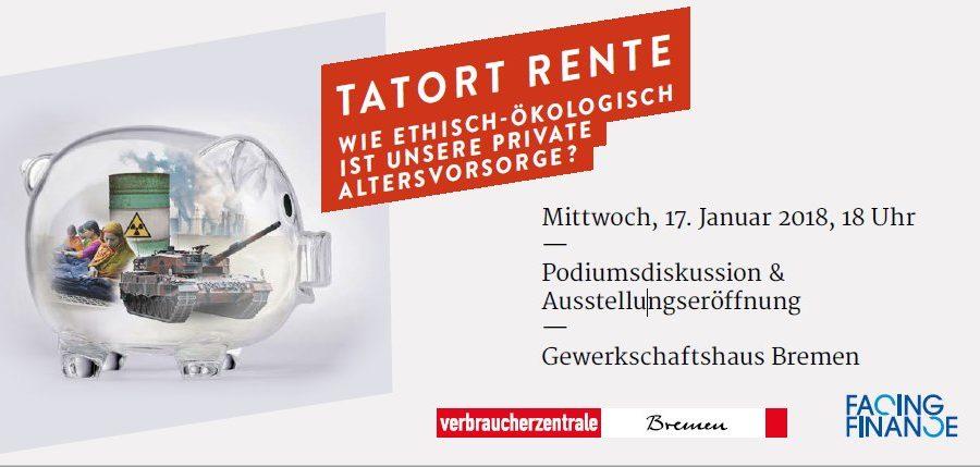 """Eröffnung Der Ausstellung """"Wie Fair Ist Meine Rente?"""" In Bremen"""